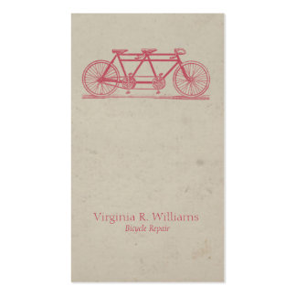 Vintage Bicycle 2 Seater Business Card
