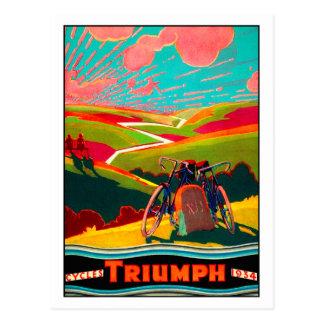 Vintage Bicycle Ad - Bike on Hillside Postcard