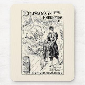 Vintage bicycle advert mousepad