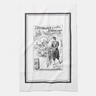 Vintage bicycle advert towel