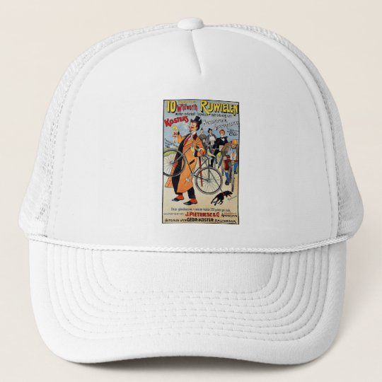 Vintage Bicycle Advertising Art Trucker Hat