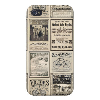Vintage Bicycle Advertising Collage Cover For iPhone 4