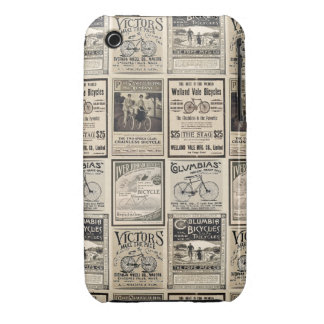 Vintage Bicycle Advertising Collage iPhone 3 Cover