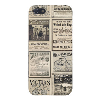 Vintage Bicycle Advertising Collage iPhone 5/5S Cases