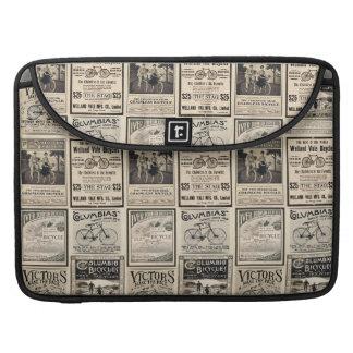 Vintage Bicycle Advertising Collage MacBook Pro Sleeves