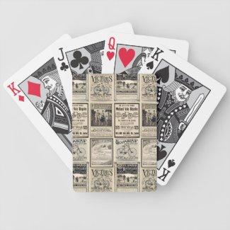 Vintage Bicycle Advertising Collage Bicycle Card Deck