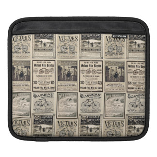Vintage Bicycle Advertising Collage Sleeves For iPads