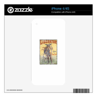 Vintage Bicycle and Automobiles Skins For iPhone 4S