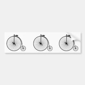 vintage bicycle antique bike symbol sihouette car bumper sticker