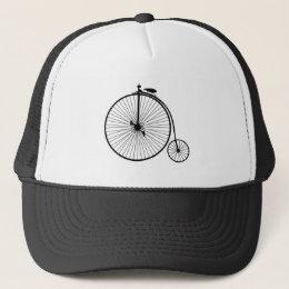vintage bicycle antique bike symbol sihouette trucker hat