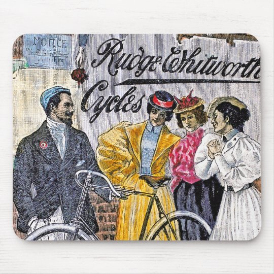 Vintage Bicycle Art Ruge Whitworth Cycles Mouse Pad