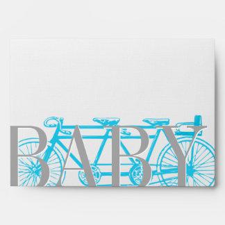 Vintage Bicycle Baby Boy Shower Invitations Envelopes