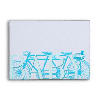 Vintage Bicycle Baby Boy Shower Invitations Envelope