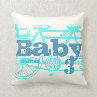 Vintage Bicycle Baby Seat Aqua Baby Boy Pillow