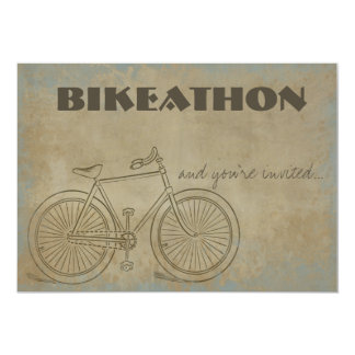 Vintage Bicycle Bikeathon Inivtation 5x7 Paper Invitation Card