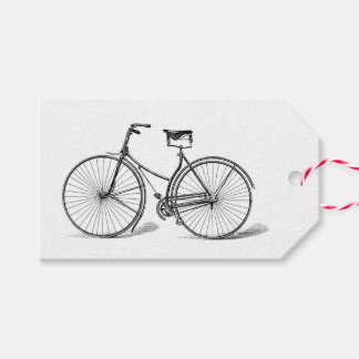 VINTAGE BICYCLE - BLACK AND WHITE Gift Tags Pack Of Gift Tags