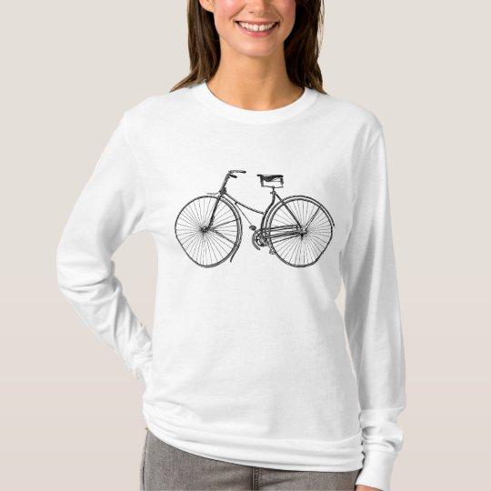Vintage Bicycle - Black T-Shirt