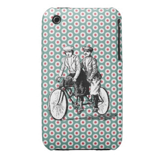 Vintage Bicycle Built for Two Case-Mate iPhone 3 Cases