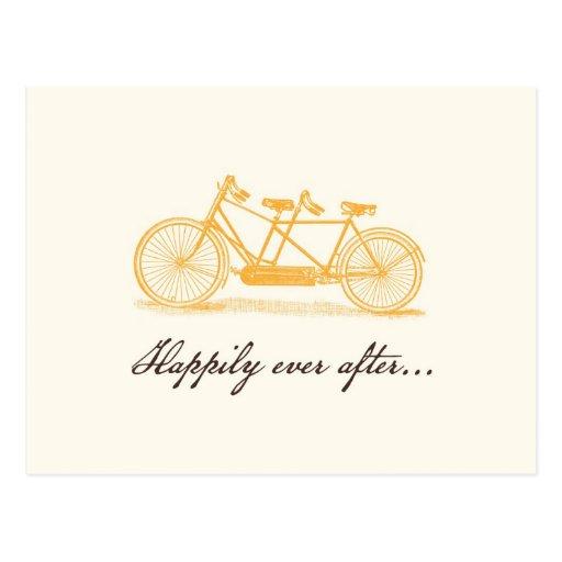Vintage Bicycle Built For Two-Custom for Elizabeth Postcard