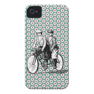 Vintage Bicycle Built for Two iPhone 4/4s Case