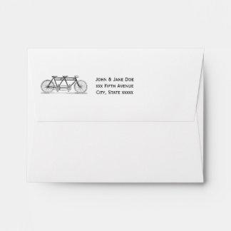 Vintage Bicycle Built For Two / Tandem Bike Envelope
