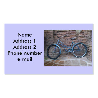 Vintage bicycle business card. Double-Sided standard business cards (Pack of 100)