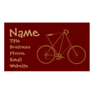 Vintage Bicycle Business Cards Red