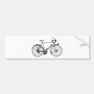 Vintage Bicycle Car Bumper Sticker
