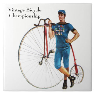 Vintage Bicycle Championship Ceramic Tile