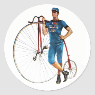 Vintage Bicycle Championship Classic Round Sticker