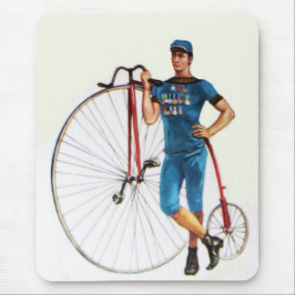Vintage Bicycle Championship Mouse Pad