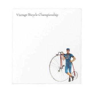 Vintage Bicycle Championship Notepad