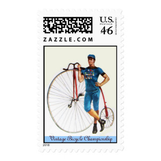 Vintage Bicycle Championship Postage Stamp