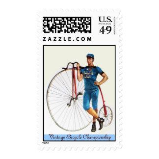 Vintage Bicycle Championship Postage Stamp