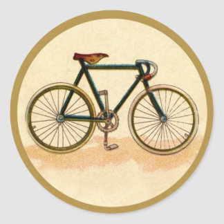 Vintage Bicycle Classic Round Sticker