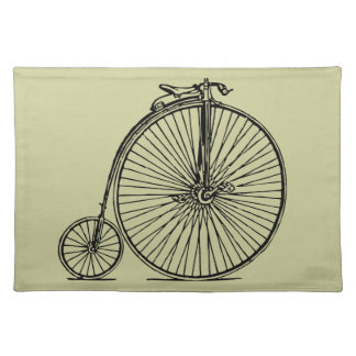 vintage bicycle cloth placemat