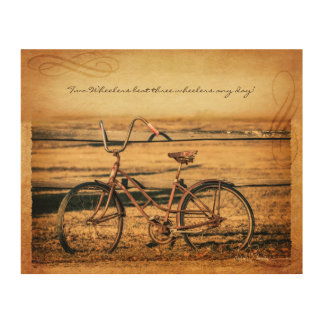Vintage Bicycle Design Wood Canvases