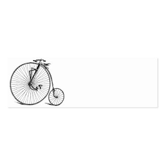Vintage Bicycle Double-Sided Mini Business Cards (Pack Of 20)