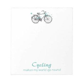 Vintage Bicycle Drawing Notepad