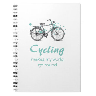 Vintage Bicycle Drawing Spiral Notebook