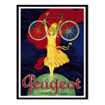 Vintage Bicycle Gifts - Cycles Peugeot Postcard