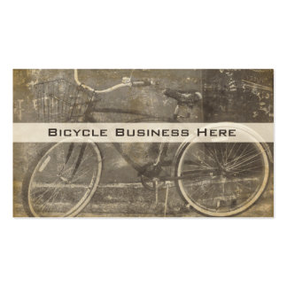 Vintage Bicycle Grungy Business Card