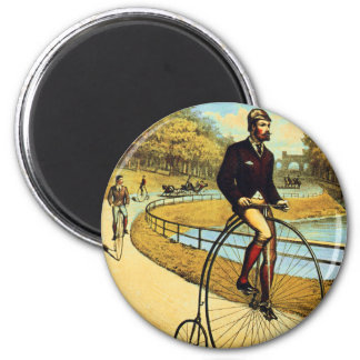 Vintage Bicycle High Wheeler Penny Farthing 2 Inch Round Magnet