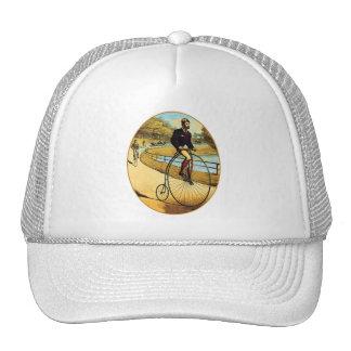 Vintage Bicycle High Wheeler Penny Farthing Trucker Hat