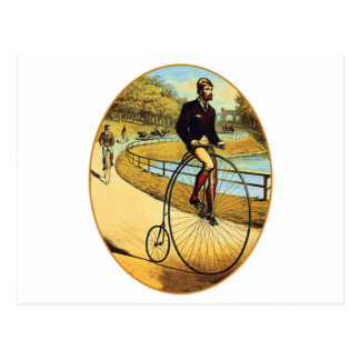 Vintage Bicycle High Wheeler Penny Farthing Postcard