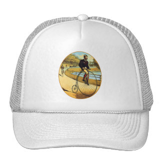 Vintage Bicycle High Wheeler Penny Farthing Trucker Hat