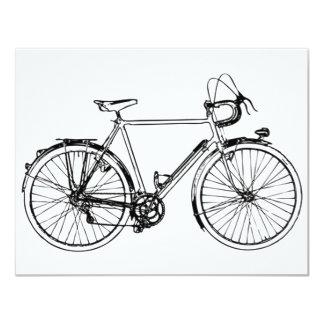 Vintage Bicycle 4.25x5.5 Paper Invitation Card