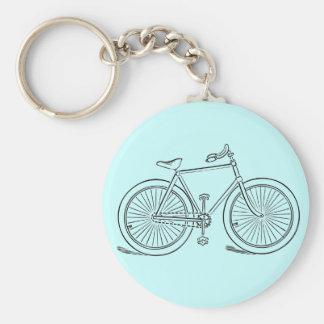 Vintage Bicycle Key Chain Basic Round Button Keychain