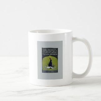 Vintage Bicycle Lady & Dog Coffee Mug