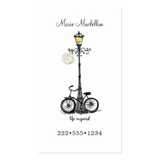 Vintage Bicycle Lamp Post Country Retro Double-Sided Standard Business Cards (Pack Of 100)